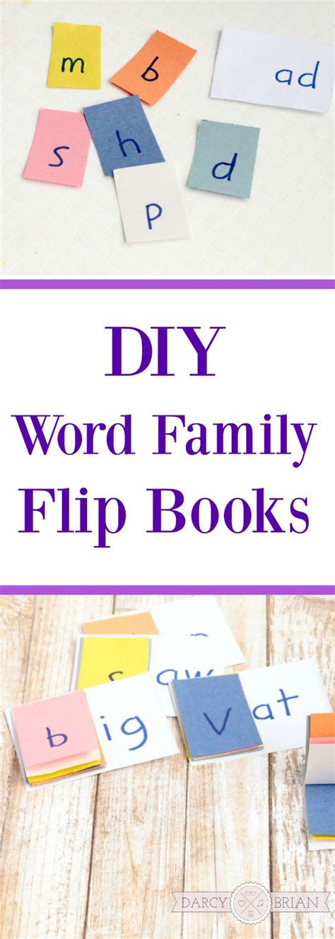 building a family books diy sight word family flip books for kindergarten