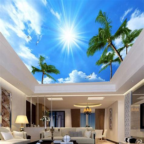 ceiling mural wallpaper custom photo wallpaper 3d living room bedroom ceiling
