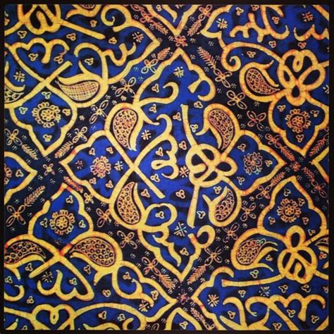 indonesian pattern batik ceplok pattern from palembang south sumatra