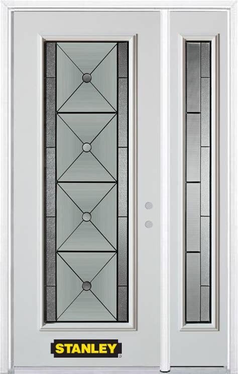 48 Inch Exterior Door Stanley Doors 48 Inch X 82 Inch Bellochio Lite White Steel Entry Door With Sidelite And