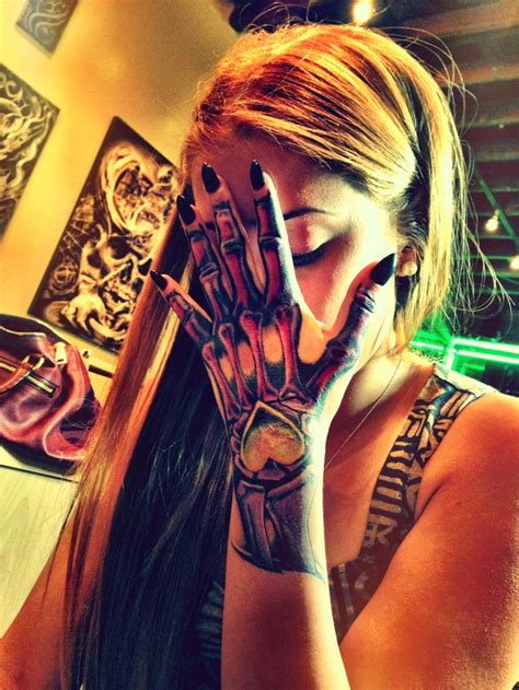 skeleton hand tattoos skeleton