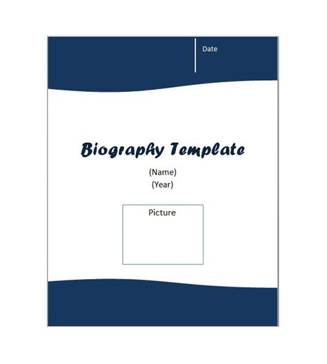 autobiography cover page template biography cover page template autobiography cover page