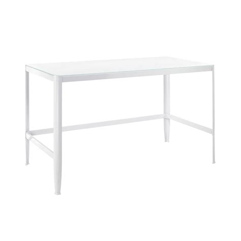 Glass White Desk by Pia White Table W White Glass