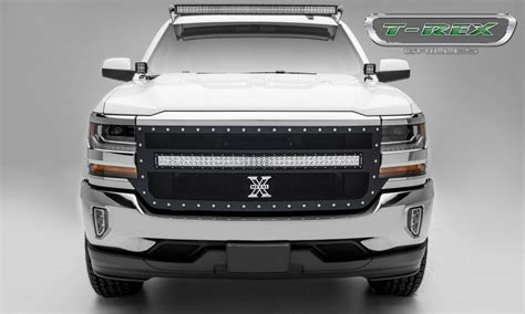 Led Light Bar Grill Chevrolet Silverado Torch Series 1 40 Quot Led Light Bar Middle Formed Mesh Grille