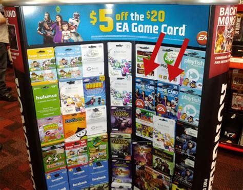 Ea Gift Card - save 5 on a 20 ea game card