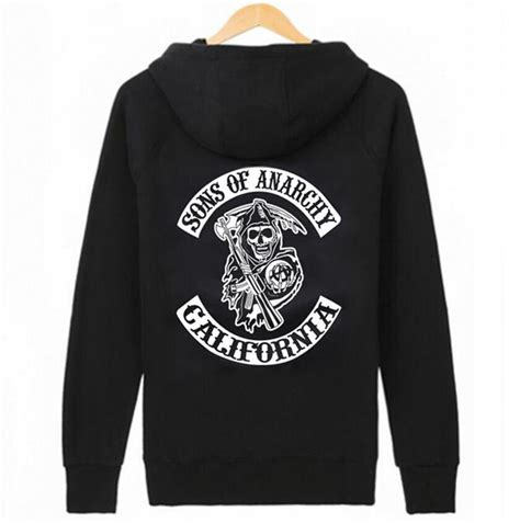 Hoodie Zipper Anarchy Zemba Clothing buy wholesale sons of anarchy pullover hoodie from