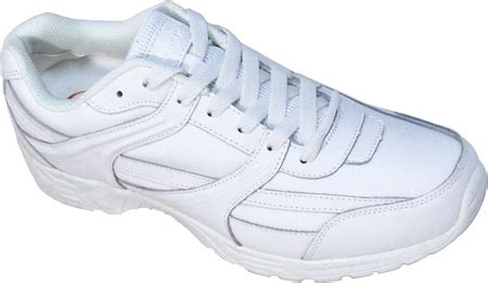 genuine grip footwear white leather slip resistant jogger