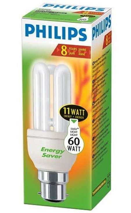 Lu Philips Genie 11w Watt sustainable energy author ireland seai are philips cfl bulbs lived
