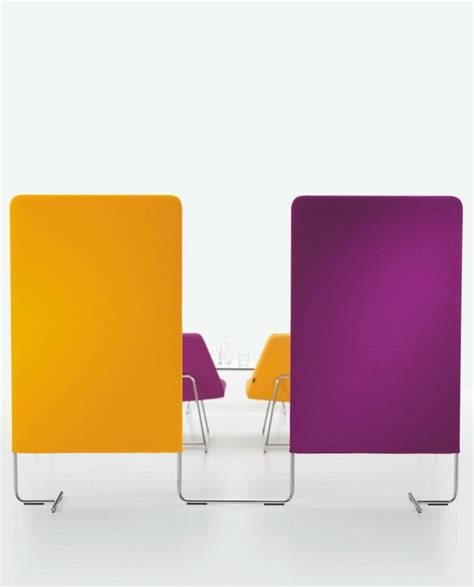 soundproof desk dividers sound absorbing workstation screen linked by girsberger design carlos tiscar dividers and