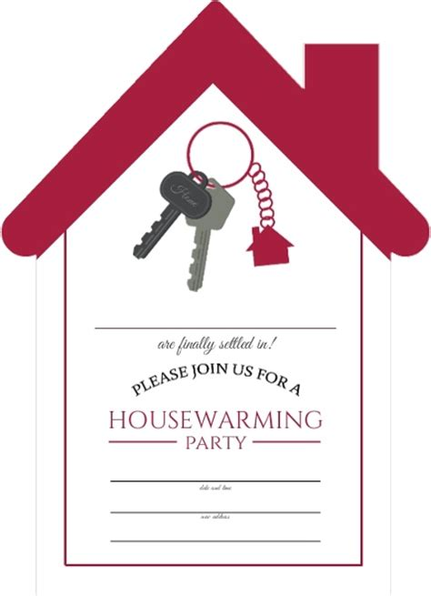 Housewarming Gift Card Template by Keychain Housewarming Fill In The Blank Invitation