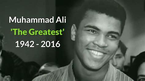 muhammad born died muhammad ali obituary the greatest dies aged 74
