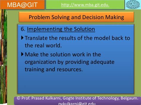 Of Mba Problem Solving Model by Business Analytics Module 5 14mba14 According To New Vtu