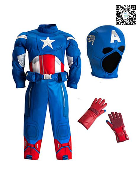 Captain America Kid new arrival high quality captain america costume