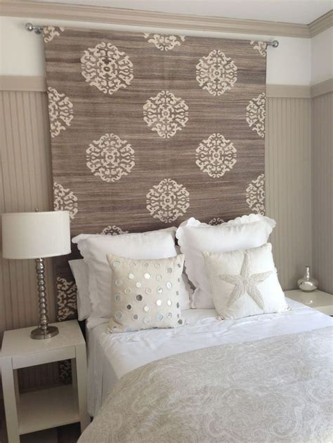 how to make a material headboard 25 best ideas about headboard alternative on pinterest