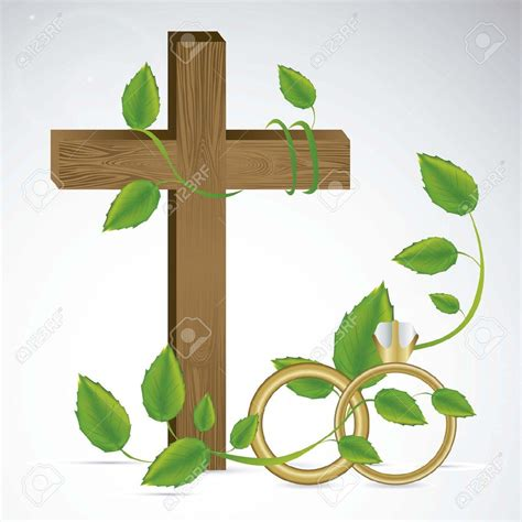 Wedding Cross Clip by Cross And Wedding Rings Clipart 56