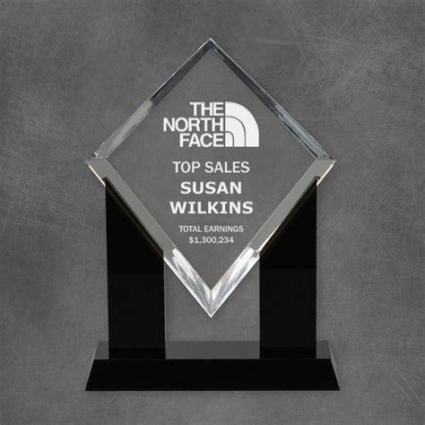 Personalized Acrylic Diamond Top Sales Award