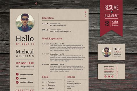 template cv tku card creative resume business card set resume templates on