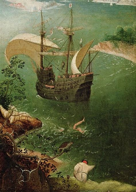 Landscape Of The Fall Of Icarus Landscape With The Fall Of Icarus Quot 2 5 Quot X 3 8 Quot Detail