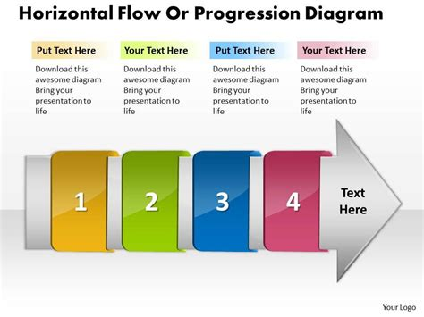 Ppt Horizontal Flow Progression Network Diagram Powerpoint Template Business Templates 4 Stages Powerpoint Network Diagram Template