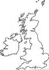 ... Pages Map (Countries > Great Britain) - free printable coloring page