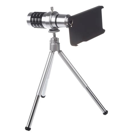 Tele Zoom Tripod 12x telephoto zoom lens for iphone 5 with support for new