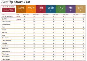 house chores checklist template family chore list template microsoft office templates