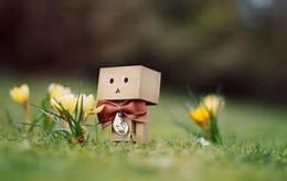 Cardboard Cute Robots Wallpaper