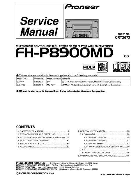 pioneer diagram wiring deh x4600bt pioneer deh x6600bt