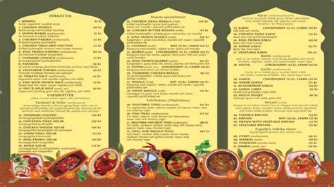 Menu Card Design For Indian Restaurant
