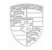 Coloriage Porsche &224 Imprimer Gratuit Avec Le Logo De Cette Marque