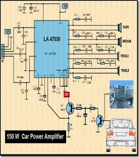 Harga Rangkaian Power Inverter power lifier mobil 4 chanel 150 watt