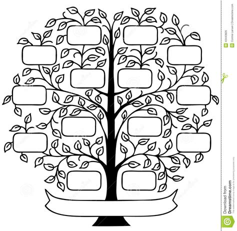 draw a family tree template wall decal handcut designs chicago web design
