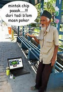 Gambar Lucu Kakek Canggih
