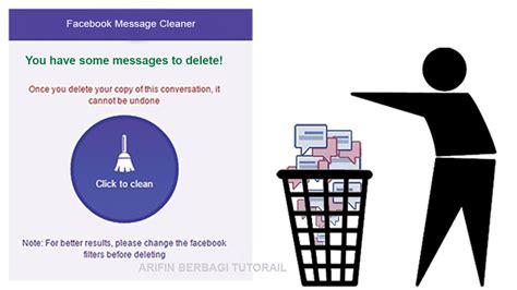 fb message cleaner cara menghapus semua pesan chat di akun facebook dengan