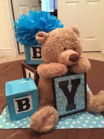 teddy themed baby shower alphabet blocks and teddy themed centerpiece baby shower building block centerpiece