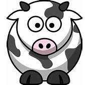 Illustration Black And White Patterned Cartoon Styled Dairy Cow