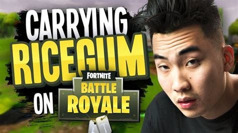 Coz I U Second 1 3 carrying ricegum on fortnite battle royale