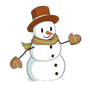 Free cute and lovely snowman clip art