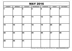 May 2016 free printable calendar may 2016 free printable calendar may