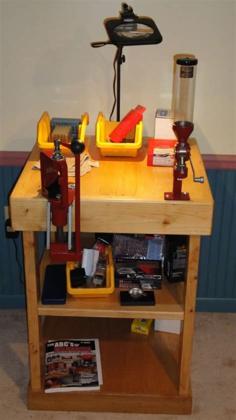 cheap reloading bench small diy reloading bench just needs a shot shell