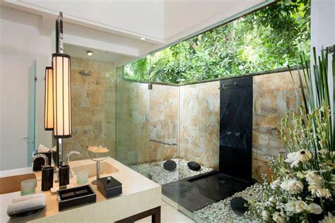 desain dapur terbuka ke taman villa the sanctuary bali