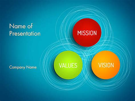 powerpoint templates for values mission vision and core values diagram for powerpoint