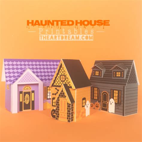 printable haunted house craft haunted house papercraft