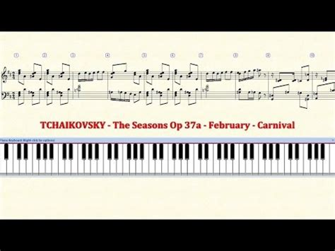 keyboard tutorial nutcracker piano tutorial sheet 02 tchaikovsky february