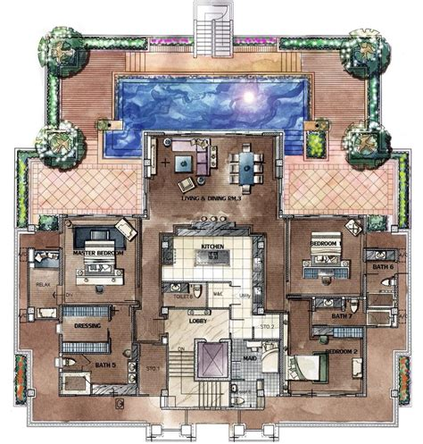 penthouse apartment floor plans chom tawan penthouse floorplan