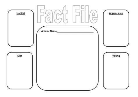 fact file template ks2 image result for blank fact file template education