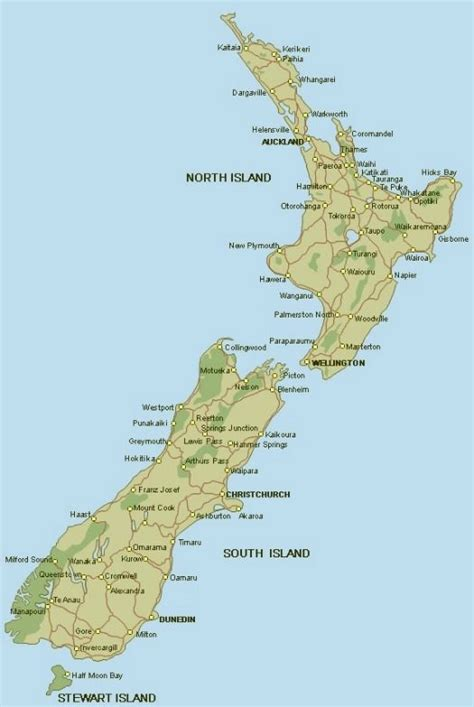 google images nz maps of new zealand