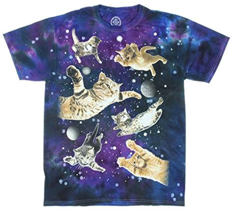 Tshirt Fly Cats Black cats flying in space t shirt large animals