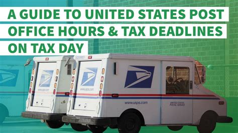 post office hours for filing taxes last minute a guide to united states post