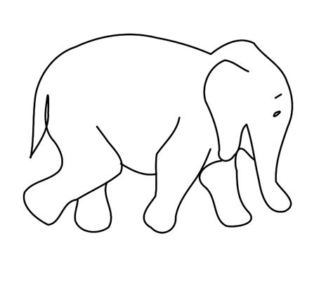 printable animal outlines elephant outline clip art cliparts co